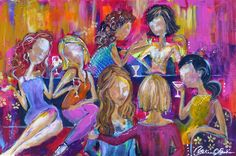 Girlfriends by Catalina O. Rankin 36x24 acrylic on canvas Www.catalinarankin.com Painting Inspiration, Girlfriends, Concept, Canvas, Artwork, House, Tela, Work Of Art, Home
