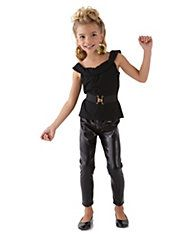 cool sandy costume - shown u0027em whou0027s boss with this rockinu0027 outfit. your transformed Sandy from  Grease  wears a black knit top paired with stretch pants. a ...  sc 1 st  Pinterest & 23 best Girls Grease Lightning Costumes 50u0027s images on Pinterest ...