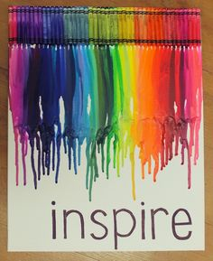 Melted Crayon Art  Fabulous for a kids or craft room!