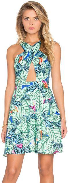Mara Hoffman Cross Front Mini Dress