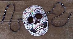 All Things Crafty: Sugar Skull Paper Mache Mask