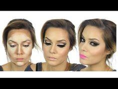 Kim Kardashian Inspired MakeUp Tutorial   Valentine's Day   Highlight & ...