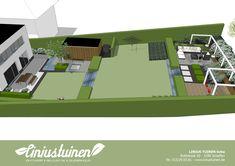 Linius Tuinen - Achtertuin met 4m hoogteverschil