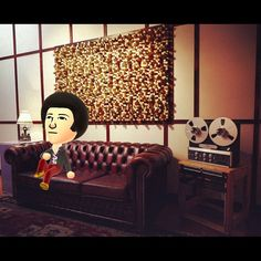 An awesome Virtual Reality pic! You just gotta love #nintendo!  #miitomo #virtualreality #checkmeout #mii #recordingstudio #lookma #brooklyn #tapemachine #chesterfield #diffuser by rosestudios check us out: http://bit.ly/1KyLetq