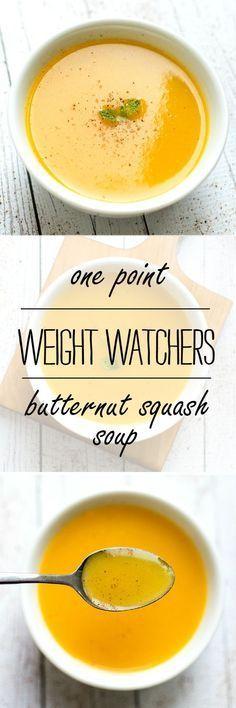 Weight Watchers Recipe Ideas | One Point Weight Watchers Butternut Squash Soup - Soup Recipes ideas | Butternut Squash Recipe Ideas @It All Started With Paint