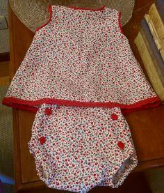 Conjunto de vestido y cubrepañal talla 3-6meses