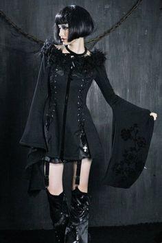 HauteNoire Kimono Tunic Jacket with Lacing by Punk Rave
