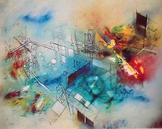 Roberto Matta. Composition. 1959 Art Painting, Art Photography, Artist Inspiration, Abstract Painting, Painting, Abstract Artwork, Abstract, Art Inspiration, Contemporary Art Painting