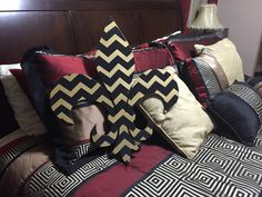 Black And Gold Chevron Fleur De Lis Sign by Bayou Lane Creations on Etsy