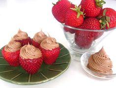 Mocha Whipped Cream Stuffed Strawberries