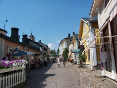 Porvoo. Finland where my sister Auli lives