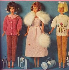Free Barbie doll clothes patterns throughout this site