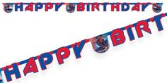 It looks as though Spiderman has dropped in to wish you a very 'Happy Birthday'! This 'The Amazing Spiderman' letter banner reads 'Happy Birthday' and