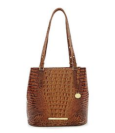 Brahmin Melbourne Collection Hudson Croco Embossed Bucket Bag #Dillards