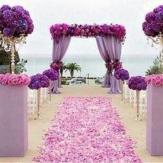 Purple love wedding deco