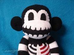 Sock+Monkey++Macabre++The+Original+Skeleton+Sock+by+REBELalaMODE,+$50.00
