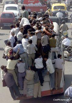 Overloaded Bus: India