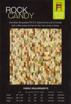 Rock Candy Quilt Pattern by Madison Cottage Design