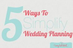 """Tips: 5 Ways To Simplify Wedding Planning- Great food for thought as you plan your wedding.  My favorite?  """"stop buying""""!  Borrow, rent and """"upcyle"""" as much as you can and put your money into a few details that really matter to you.  http://theeverylastdetail.com/2012/10/04/5-ways-to-simplify-your-wedding-planning/Thursday"""