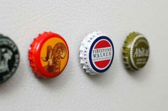 I already made the wine cork magnets, now I'll have to make the bottle cap magnets.