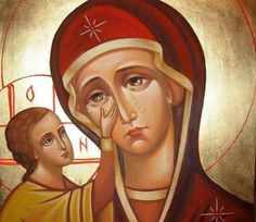 This icon is so beautiful! <3 May our Mother bring with her intercessions world peace! May she protect us all!