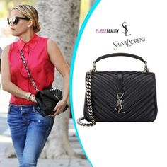 PURSE BEAUTY: CELEBPURSONALS: REESE WITHERSPOON'S SANTA MONICA SAINT LAURENT 'MONOGRAM COLLEGE' SHOULDER BAG AND BEVERLY HILLS FENDI '2JOURS' PETITE SHOPPER
