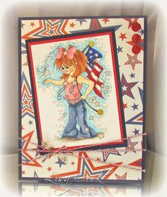 Star Spangled by busysewin - Cards and Paper Crafts at Splitcoaststampers