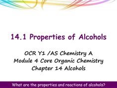NEW OCR A Level Chemistry - Alcohols, Halogenoalkanes and Analysis