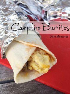 Campfire Breakfast Burritos Recipe (or Breakfast Tacos) Campfire Breakfast Burritos, Camping Breakfast, Breakfast Tacos, Breakfast Recipes, Brunch Recipes, Breakfast Ideas, Camping Ideas, Camping Recipes, Camping Foods