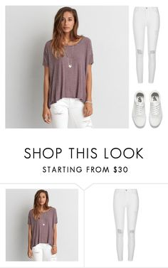 """""""Untitled #2102"""" by laurenatria11 ❤ liked on Polyvore featuring American Eagle Outfitters, River Island and Vans"""