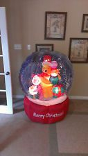 Prototype Gemmy Christmas Winnie the Pooh Piglet Snow Globe Inflatable Airblown