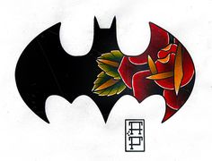perjtattoo: did this today for a friend as an engagement gift. he is a huge batman fan. Marvel Tattoos, Batman Tattoo, Star Tattoos, Body Art Tattoos, Sleeve Tattoos, Game Tattoos, Batman Symbol Tattoos, Tatoos, Traditional Ink
