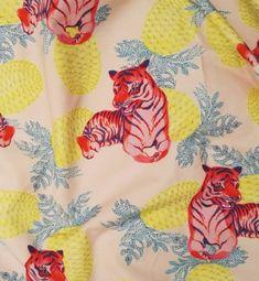 "New print ""Tigers"" for @vimmacompany #vimmacompany #vimma #minnihavas #pattern #animalprint #tiger #pineapple"