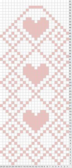 Stricken Tricksy Knitter by Megan Goodacre: Heart Mittens – Stricken Knitting Charts, Knitting Stitches, Knitting Designs, Knitting Projects, Knitting Patterns, Crochet Patterns, Filet Crochet, Crochet Chart, Mittens Pattern