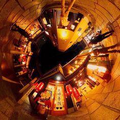 #観光スポット を360度カメラで紹介  なんば法善寺横丁 旨いもんが勢ぞろい どのお店も入りたい . . . . .  #panomiru #パノミル #VR #follow #フォロー #フォロワー #instagood #instalike #instadaily #photooftheday #いいね #beautiful #きれい #cool #photo  #theta360 #littleplanet #tinyplanet #360カメラ部 #360camera #360度カメラ #travel #traveling #旅 #deece_spot #法善寺橫丁 #osaka #夫婦善哉 by panomiru Little Planet, Tower, Building, Instagram Posts, Beautiful, Rook, Computer Case, Buildings, Construction