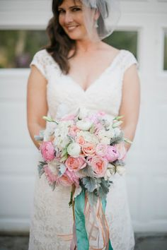 Pastel Wedding Bouquet by Branches Event Floral Company