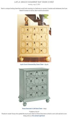 COPY CAT CHIC FIND: Layla Grace's Somerset Bay Essex Chest VS Home Decorator's Left Bank Chest