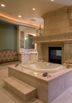 Luxurious Bath I can just imagine what the rest of the house looks like if this is just the bathroom Dream Bathrooms, Beautiful Bathrooms, Modern Bathroom, Luxurious Bathrooms, Bathroom Tubs, Bathroom Laundry, Master Bathrooms, Bath Tub, Bath Room