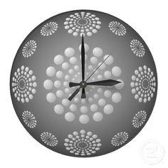 Gray and White Polka Dot Beads Wall Clock White Wall Clocks, Grey And White, Gray, White Walls, Create Yourself, Polka Dots, Beads, Design, Home Decor
