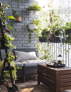 A balcony is a small oasis in an urban landscape. Somewhere you can sit outside and look down on the world. Unobserved. A tiny green paradise where dreams can hatch, books can be read, and where plants can flourish. And all just a few feet away.