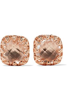 Larkspur & Hawk | Jane rose gold-dipped quartz earrings | NET-A-PORTER.COM