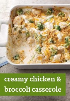 Creamy Chicken and Broccoli Casserole – You up for an easy chicken and broccoli casserole that's cheesy, creamy and covered in a crisp, buttery cracker topping? We've got you covered.