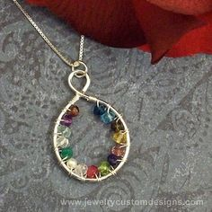 Infinity Mother Necklace Grandmother by JewelryCustomDesigns, $74.99