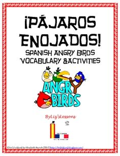 The product includes instructions for how to use the activities (lesson plan), two versions of Angry Birds vocabulary for lower level or upper level students, a cognates activity, a bingo board, an online activity with Sumo Paint, a word search, YouTube video links, and speaking and writing activities. Your students will love it! Spanish Activities, Vocabulary Activities, Class Activities, Teaching Spanish, Writing Activities, Teaching Resources, Teaching Ideas, Spanish Teacher, Angry Birds