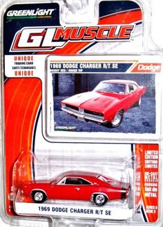 1969 Dodge Charger R/T SE Greenlight MUSCLE 1:64 scale Series 8 Bright Red #GreenLight #Dodge