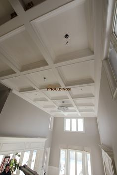 Vaulted Ceiling With Designed Walls Wainscoting Pinterest - Cornice crown moulding toronto wainscoting coffered ceiling