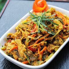Pampis Cakalang Fufu, Indonesian Spicy and Hot Stir Fry Shredded Smoked Skipjack Tuna Fish.