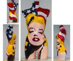 L.E.MOORE  All American Monroe , Pop-Skulptur, 78 cm hoch, Limitiert No. 1/10