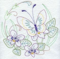 Butterfly Circle - Violets (Vintage)