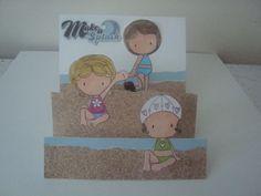 step card - beach cuties